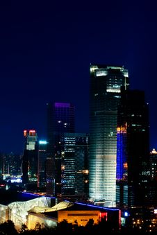 Free Night View Of CBD, Shenzhen Stock Images - 8012904