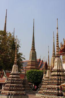 Free Plenty Of Pagodas In Thailand Stock Image - 8013001