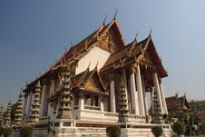 Temple Sutat In Bangkok Royalty Free Stock Image