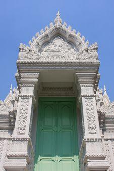 Thai Art Door Stock Image
