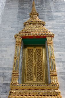 Thai Art Window Stock Images