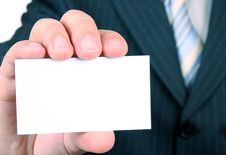 Free Empty Business Card Royalty Free Stock Photography - 8014797