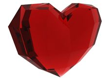 Free Ruby Heart Royalty Free Stock Photography - 8015207