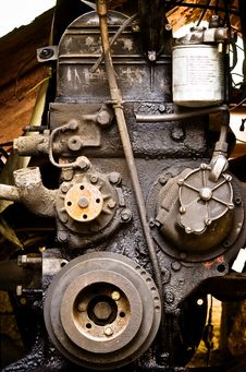 Free Old Diesel Engine Close-up Royalty Free Stock Photo - 8015375