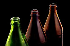 Free Empty Bottles Isolated On Black Royalty Free Stock Image - 8015466