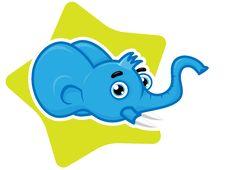 Free Funny Elephant  Cartoon Mascot Royalty Free Stock Photo - 8015565