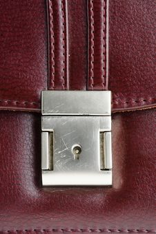 Close-up Genuine Leather Background Stock Images