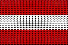 Austria Heart Flag Stock Photography