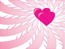 Free Pink Background With Heart Stock Images - 8016414