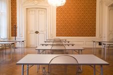 Free Empty Classroom In The Castle Royalty Free Stock Image - 8016426