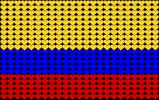 Colombia Heart Flag Royalty Free Stock Image