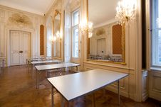 Free Empty Classroom In The Castle Stock Images - 8016824