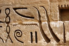 Free Closeup Of Hieroglyphs Stock Photography - 8017092
