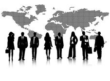 Free Business People And Map Stock Photo - 8017710