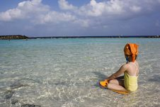 Free Girl On The Beach. Stock Photos - 8017833