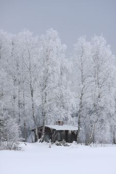 Free House In Winter Stock Image - 8017961