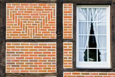 Window In Wall Of Bricks Royalty Free Stock Image