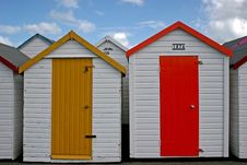 Free Beach Huts Royalty Free Stock Photography - 8018537