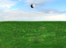 Free Golf Ball Flying Royalty Free Stock Photos - 8018668