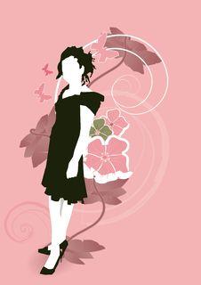Free Spanish Stlye Girl Standing Stock Photography - 8018912