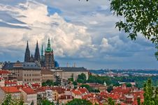 Free View Of The Center Of Old Part Prague. Royalty Free Stock Photography - 8018957