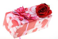 Free Gift And Rose Stock Photo - 8019600