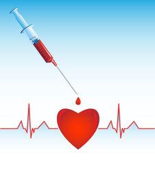 Free Heart Cardiogram Stock Image - 8019611