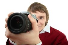 Free Young Photographer Man Royalty Free Stock Images - 8019699