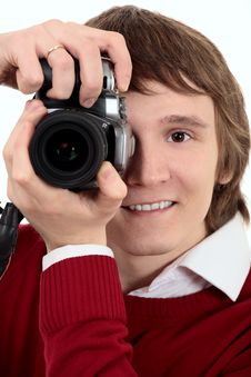 Free Young Photographer Man Royalty Free Stock Photography - 8019827