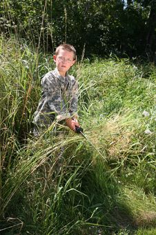 Free Boy In American Army Camoflauge Royalty Free Stock Photo - 8019995