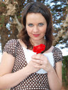 Free Woman With Rose Royalty Free Stock Images - 8020489