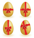 Free Golden Eggs With Ribbons Royalty Free Stock Photography - 8026027