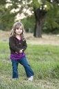 Free Girl In Field Stock Image - 8028361
