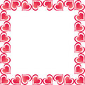 Free Valentine Hearts Border Royalty Free Stock Photography - 8028617
