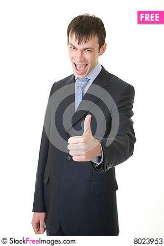 Free Businessman Shows OK Sign Stock Photos - 8023953