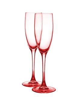 Free Two Red Glasses For Champagne. Royalty Free Stock Photography - 8020427