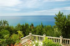 Free Terrace With Sea View Stock Image - 8022001