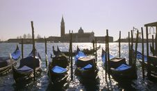 Free Gondolas In Venice Royalty Free Stock Images - 8022009