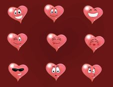 Free Set Of Sweet Emotions For St. Valentine Royalty Free Stock Image - 8022036