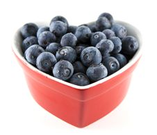 Free Heart-shaped Bowl Of Blueberries Stock Images - 8022194