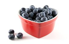 Free Heart-shaped Bowl Of Blueberries Stock Images - 8022334