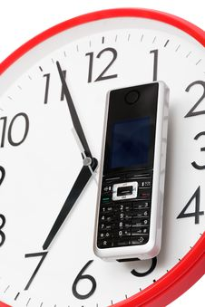 Free Phone And Clock Royalty Free Stock Photo - 8023225