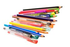 Free Color Pencils And Pens Stock Image - 8023331