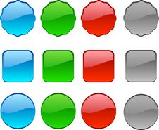 Web Buttons. Stock Photo