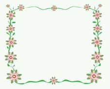 Free Flowery Greeting Card Illustration- Vector Royalty Free Stock Photos - 8023518