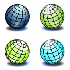 Free Set Of Globes Royalty Free Stock Images - 8023899