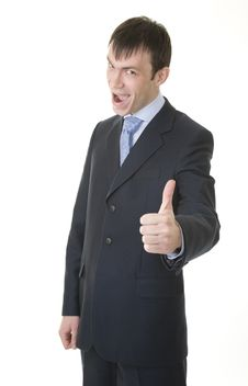 Free Businessman Shows OK Sign Stock Image - 8023951