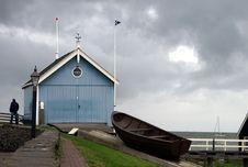 Free Historic Duth Boathouse Stock Photography - 8024352