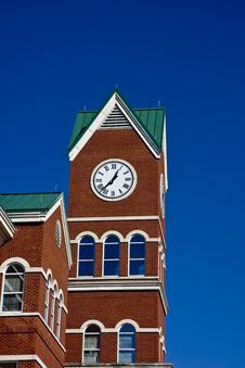 Free Bright Clock Tower On Blue Stock Photos - 8025113