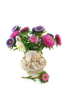 Free Bouquet From Small Asters Royalty Free Stock Images - 8025599